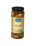 Pitted organic green olives
