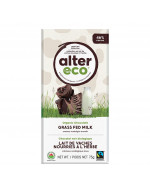 Organic chocolate grass fed milk with salted almonds