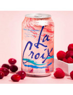 Rasberry and cranberry sparkling water
