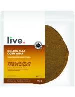 Golden flax corn wrap