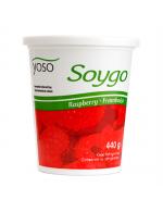 Fermented soya yogourt - rasberry