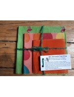 Set of three beeswax food wraps