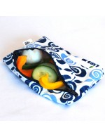 "Reusable waterproof snack bag 4""X6"" 