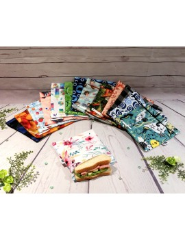 "Reusable waterproof sandwich bag 7""X7"" 