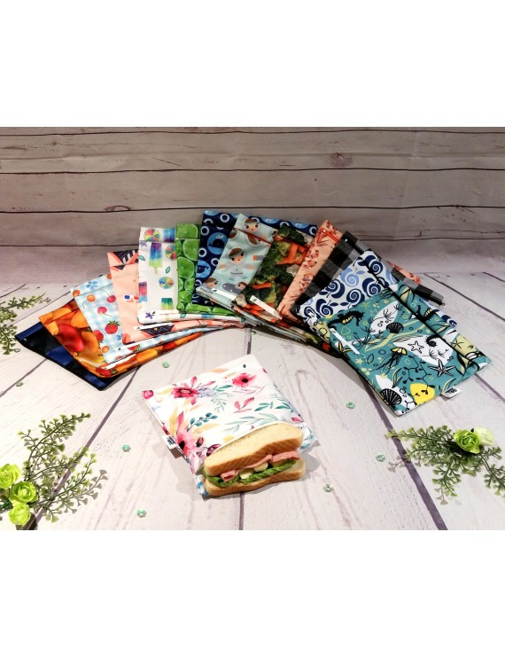 """Reusable waterproof sandwich bag 7""""X7"""" 