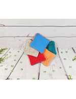 Reusable Face Cloths || Makeup Remover || Face Wipes || Lot of 5 or 10 || Made in Quebec || Fabric Remnants || Zero Waste