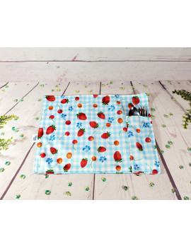 Little Student Place Mat || Place mat with its utensils pocket || Many choices of fabric || Zero Waste