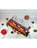 Fabric Wine Bottle Bag || Christmas Gift Wrap || Festive Reusable Gift Bag || Zero Waste Wrap