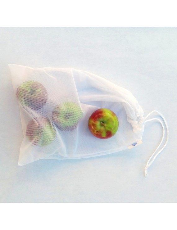 Reusable mesh bag (grocery, fruit and vegetable, bulk, laundry bag) || 4 choices of fabric