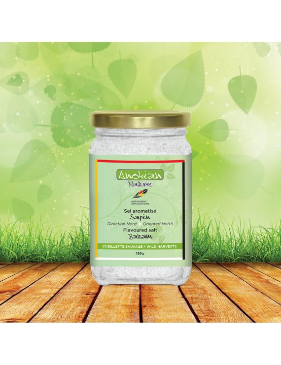 Balsam fir flavoured salt