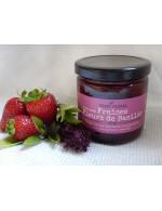 Strawberry and basil flowers jam