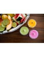 Fruits Salad Candle - Soy wax & cedar wood tick in a small masson jar (Natural, Vagan, Eco-responsable)