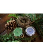Clover candle  - Soy wax & cedar wood tick in a small masson jar (Natural, Vagan, Eco-responsable)