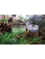 Sandalwood candle  - Soy wax & cedar wood tick in a small masson jar (Natural, Vagan, Eco-responsable)