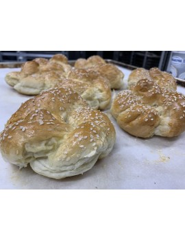 8 small challah bread (for burger) 80gr/each FROZEN