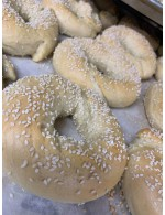 6 White sesame bagel