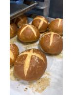 6 bretzel bun's frozen