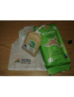 Le Nichoir medium roasted grain coffee and Au Fin Delice organice maple sugar gift DUO