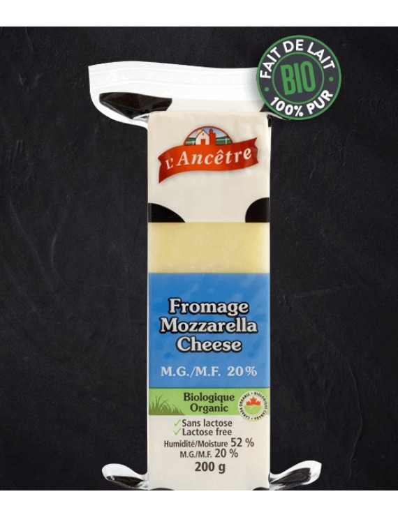 Organic Mozzarella cheese 15%