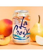 Peach and pear sparkling water