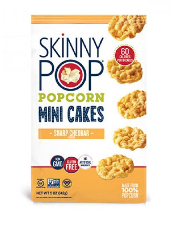 Skinny pop mini cakes sharp cheddar