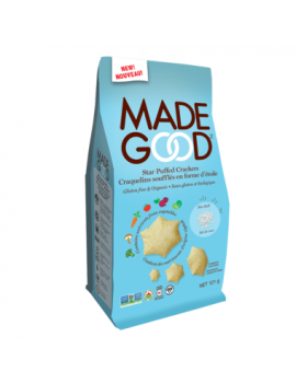 MadeGood Star Puffed Crackers Sea Salt