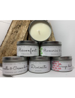 Soy wax candle in a tin container 8 oz