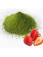 organic strawberries matcha