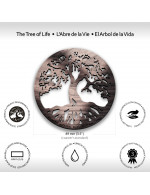 Tree of Life 2-Pcs Set - 3 in 1 Multifunction Gift – Coasters, Candle Holders, Hanging Ornaments - Solid Walnut Wood 6mm - Made in Canada