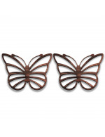 Butterfly 2-Pcs Set - 3 in 1 Multifunction Gift – Coasters, Candle Holders, Hanging Ornaments - Solid Walnut Wood 6mm - Made in Canada