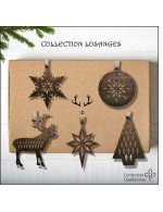 5 pcs Diamond Style Collection - 2021 Decorative Ornament Gift - Black Walnut Wood - Made in Canada