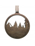 2021 Decorative Ornament  Gift - The Ball - Contour Style - Black Walnut Wood - Made in Canada
