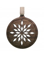 2021 Decorative Ornament Gift - The Ball - Diamond Style - Black Walnut Wood - Made in Canada