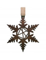2021 Decorative Ornament Gift - The Snowflake - Stick Style - Black Walnut Wood - Made in Canada