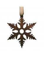 2021 Decorative Ornament  Gift - The Snowflake - Contour Style - Black Walnut Wood - Made in Canada