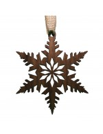 2021 Decorative Ornament Gift - The Snowflake - Diamond Style - Black Walnut Wood - Made in Canada