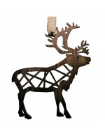 2021 Decorative Ornament Gift - The Reindeer - Stick Style - Black Walnut Wood - Made in Canada