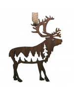 2021 Decorative Ornament Gift - The Reindeer - Contour Style - Black Walnut Wood - Made in Canada