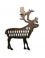 2021 Decorative Ornament Gift - The Reindeer - Diamond Style - Black Walnut Wood - Made in Canada