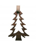 2021 Decorative Ornament Gift - The Pine Tree - Contour Style - Black Walnut Wood - Made in Canada