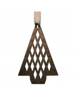 2021 Decorative Ornament Gift - The Pine Tree - Diamond Style - Black Walnut Wood - Made in Canada