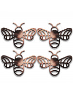 4-Pc Coasters or Candle Holders or Hanging Ornaments:  Bees