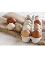 Chicken eggs from the farm