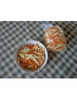 Carrot, celeriac and rutabaga juliennes