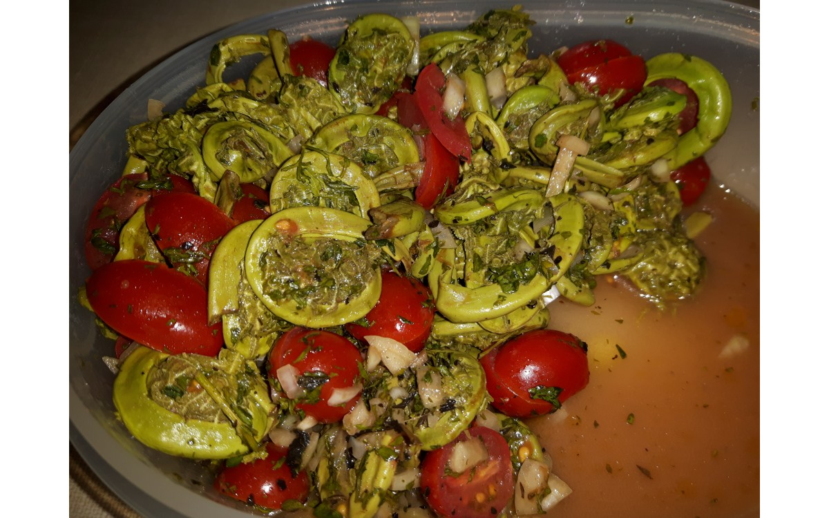 Fiddlehead Greens Salad with Mustard